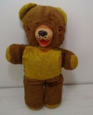 Vintage Teddy Bear Rubber Nose Wind Up Music