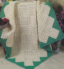 Crochet Pattern ~ TAILORS WEAVE Afghan ~ Instructions
