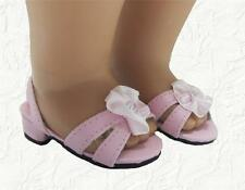Doll Clothes Shoes Kitten Heel with Sparkle Pink Fit 18 inch American Girl