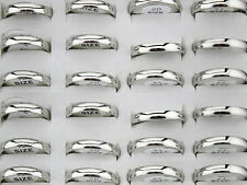 50pcs 3mm Silver  Stainless Steel Wedding Band Rings Wholesale Fashion Jewelry