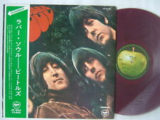 RED VINYL / THE BEATLES RUBBER SOUL / JAPAN APPLE WITH OBI
