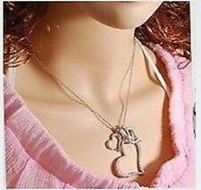 New Fashion Lovely Three Heart Design Necklace Gift