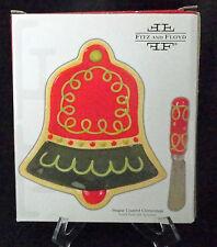 Fitz Floyd Sugar Coated Christmas Snack Plate Spreader Bell Cookie Brown 19/562