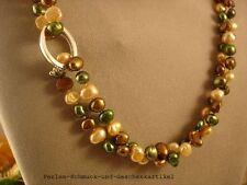 Schicke Kette 100cm + Kettenverkürzer! Echte Perlen, einzeln geknotet ! Geschenk