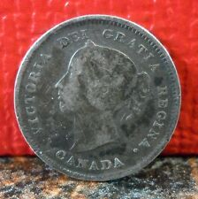 Very Nice 1885 Sterling .925 Silver 5 Cent Nickel from Canada KM# 2