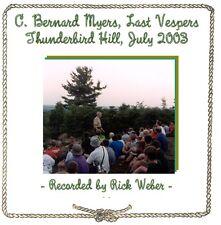 C. BERNARD MYERS LAST VESPERS CD