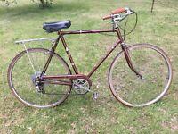 "Vintage Raleigh Sprite Cruiser Bike 19/"" Large 1972 Steel English Made US Charity"