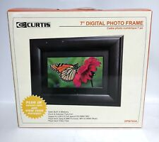 """Curtis 7"""" Digital Picture Frame with Remote DPB702A Black Wood Frame LCD Screen"""