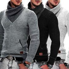 Grobe Herren-Pullover & -Strickware aus Acryl mit Unifarben und Reißverschluss