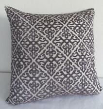 45cm Classic Scrolls Charcoal Grey Textured Cushion Cover Home Decor