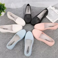 Women Casual Boat Loafers Jelly Shoes Shallow Mouth Princess Shoes NT
