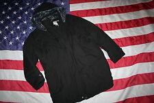 BASIC EDITIONS Black Parka Puffer Coat Size Large: jacket/peacoat/trench #3186