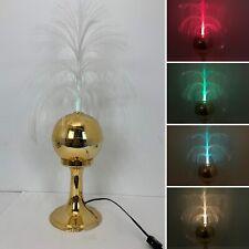 "Vintage Gold 1985 Fiber Optic Lamp Light Rotating Mod Pop Art Atomic 26"""