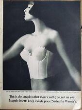 ef34de38cc 1961 Warners Sashay women s strapless Longline bra vintage fashion ad