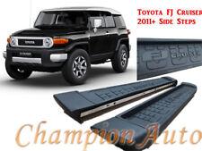 Black Side Steps for Toyota FJ Cruiser 2011-2016 Aluminium Black