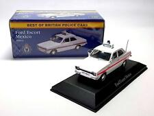 FORD ESCORT MEXICO BRITISH POLICE 1:43 Car model die diecast toy miniature UK GB