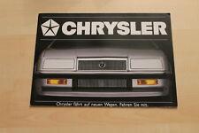 76263) Chrysler Le Baron - GS Turbo 2 - Cherokee - Voyager Prospekt 198?