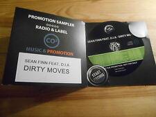 CD Pop Sean Finn / D.I.A. - Dirty Moves (10 Song) Promo CO2 MUSIC cb