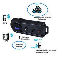 1KM Bluetooth Motorbike Headset  BT-S1 Motorcycle Helmet Intercom FM Headphone