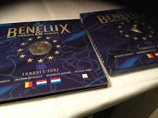 RARE  BU  BENELUX  ANNEE  2007   LES  3  SERIES + MEDAILLE  NEUF