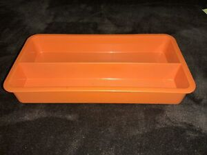 Vintage TUPPERWARE Stow-N-Go ORGANIZER Replacement Tray Only 2 Sections Pens ++