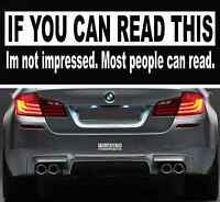 Funny If You Can Read This Bumper Sticker Vinyl Decal Car Sticker Window Decal