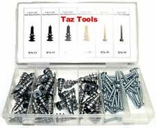 100 Pcs Metal Drywall Anchor Assorment Self Drilling Anchors With Screw kit