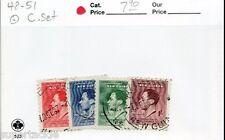 1937 Territory of New Guinea Sc# 48-51 Θ used set KGVI coronation stamps