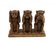 Statuette 3 singes de la Sagesse en resine - trois Sages -  h 9.5cm BO16 3466