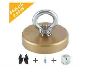 Ant Mag Fishing Magnet Heavy Duty Large Magnet with Eyebolt Super (D75)