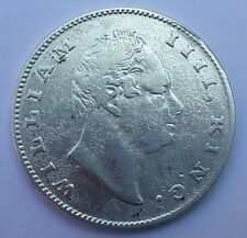 1835 East India Company British Silver 1 Rupee Coin - WILLIAM IIII -F incused