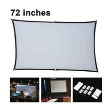 More details for 72 portable projector screen in home outdoor camping 3d hd 16:9 cinema theater