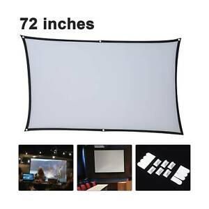 72 Portable Projector Screen in Home Outdoor Camping 3D HD 16:9 Cinema Theater