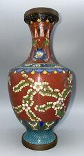 "Qing Dynasty 19Th Century (?) Cloissone´ 9-1/4"" Vase As Is"