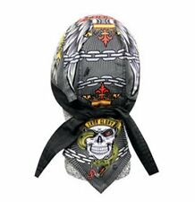 Iron Glory Skull Wings Chains Headwrap Bandanna Sweatband Durag Capsmith Biker