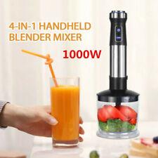 4 in1 Küchenrobot Mixbecher Stampfer Set Edelstahl Pürierstab Stabmixer 1000W