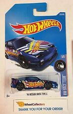 '96 Nissan 180SX Type X #225 * BLUE * 2017 Hot Wheels K Case * G11