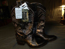 Corral Ladies Western Boots Copper Red Studded Thunderbird Harness C2932 9.5M