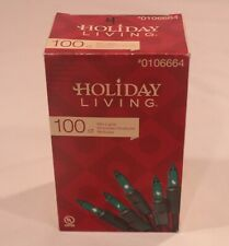 HOLIDAY LIVING 100 GREEN LIGHTS WITH GREEN WIRE .25W