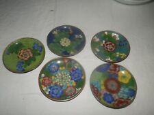 Antique Chinese Cloisonne Plate/Dish 5 Piece Auction