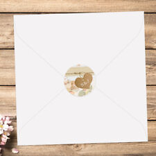 PERSONALISED Wedding Envelope Seals - Shabby Chic Flowers - Pack of 70