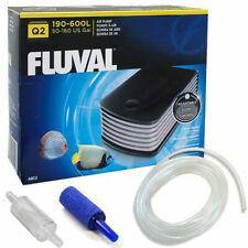 Fluval Q.2 Aquarium Fish Tank Air Pump Adjustable Flow Free Kit Tanks up to 600L