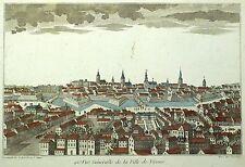 BERLIN - Gesamtansicht - Guckkastenblatt - Daumont - kolor. Kupferstich 1780
