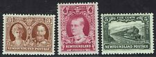 NEWFOUNDLAND 1931 PUBLICITY ISSUE 3C 4C AND 5C WMK ARMS