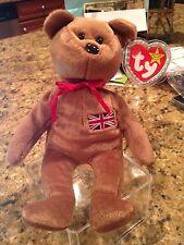 1997 Ty Britannia the Bear (Sewn British Flag) Beanie Baby