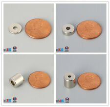 """Multiple Size 9.5mm 3/8"""" Outer Diameter Rare Earth Neodymium Ring Magnets"""