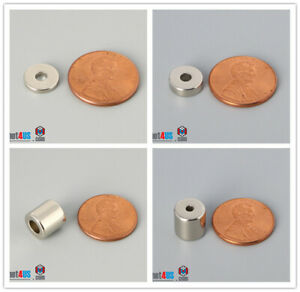 """Multiple Size 3/8"""" 9.525mm Outer Diameter Rare Earth Neodymium Arts Ring Magnets"""