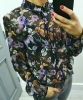 M&S limited edition stunning print button up long sleeve shirt size Uk 10