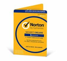 Norton Security Deluxe 5 Devices Antivirus Included 1 Year PC Mac Android UK