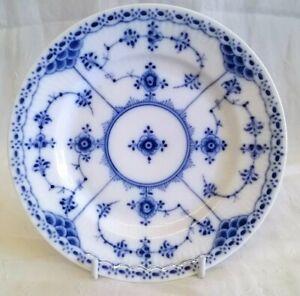 VERY RARE ROYAL COPENHAGEN MUSSELMALET BLUE FLUTED HALF LACE 14cm TEAPLATE PLATE